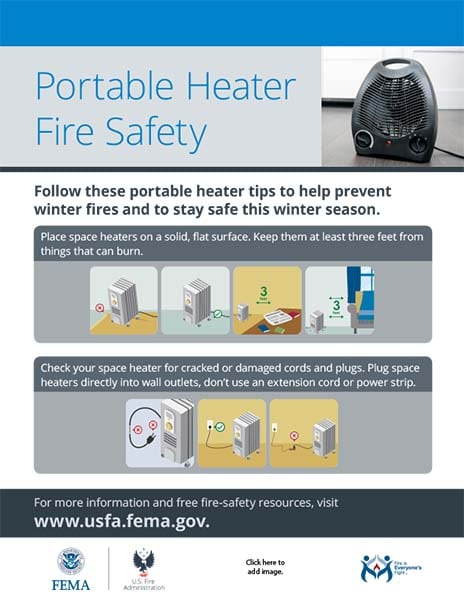 Portable Heater Fire Safety