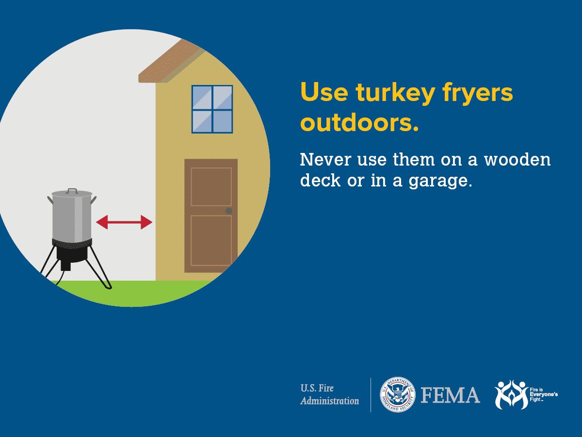 Always use turkey fryers outdoors