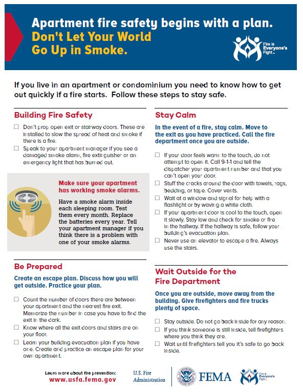 Apartment Fire Safety Flyer