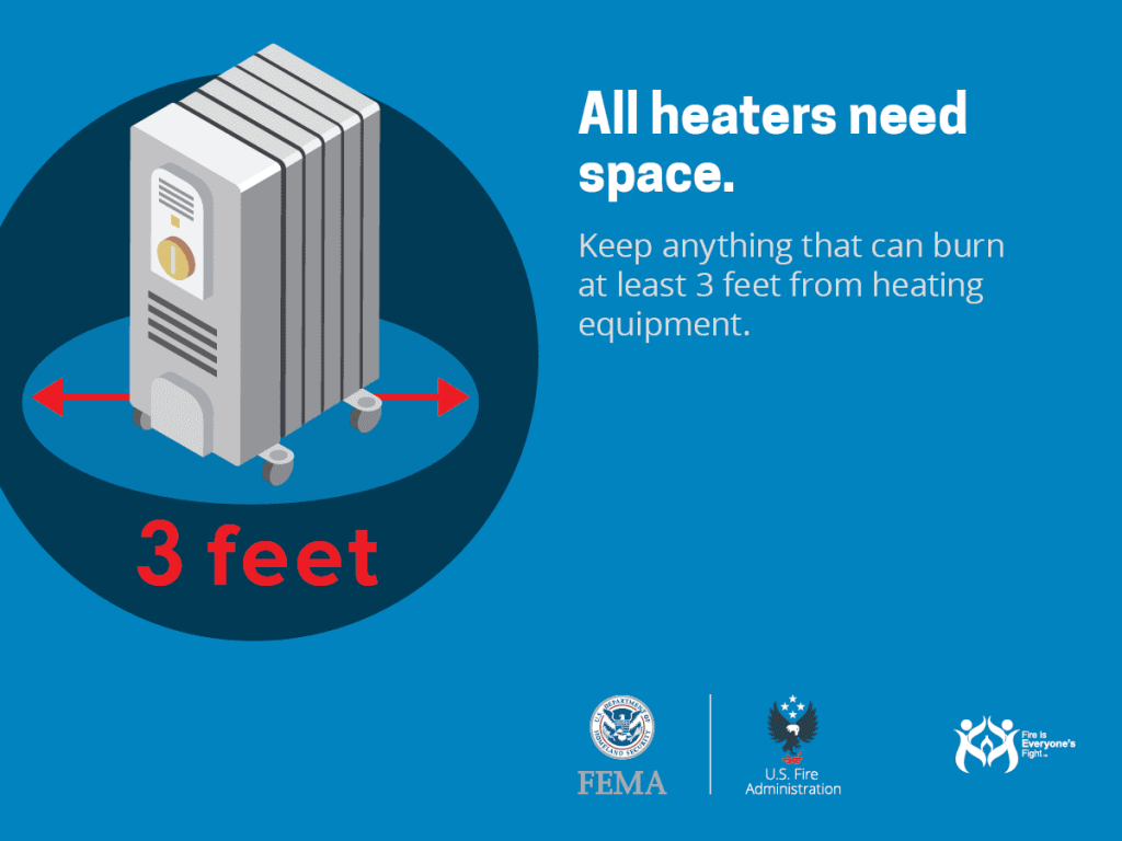 heaters need space