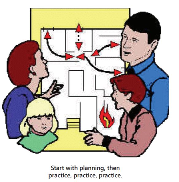 Create and practice a home escape plan