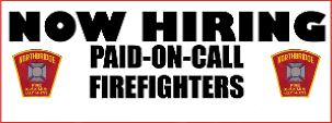 NFD is hiring Paid On Call Firefighters